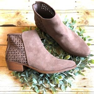 New! LAST PAIR!! Nutmeg Brown Bootie With Zipper